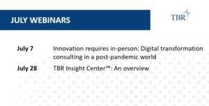 TBR July 2021 Webinars for Market Intelligence and Competitive Intelligence